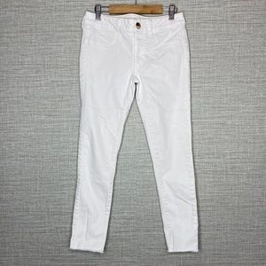 American Eagle Sz 2 White Ankle Skinny Jeans
